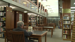 Inside a public library (2 of 6) Footage