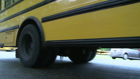 School bus on the road Footage