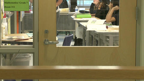 A Look Inside A Classroom stock footage