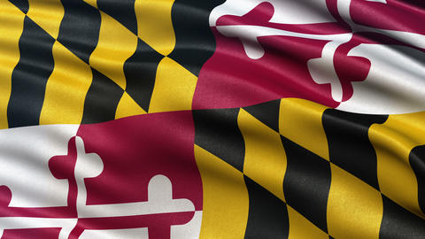4K Maryland state flag seamless loop Ultra-HD Animation
