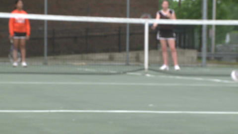 High school girls at tennis practice (4 of 6) Footage