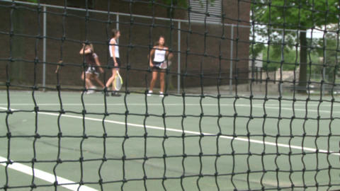 High school girls practicing tennis (1 of 5) Footage
