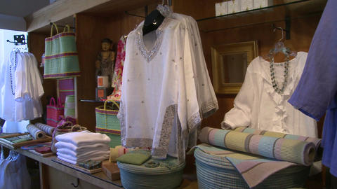 Displayed clothes in a boutique (1 of 2) Footage