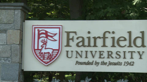 Fairfield University sign (1 of 3) Footage