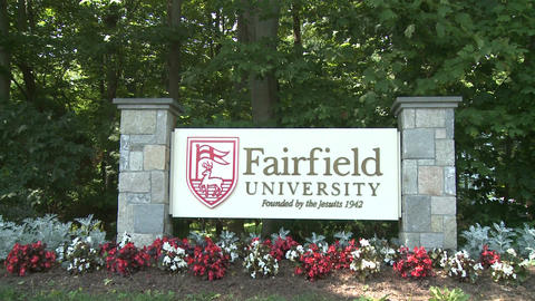 Fairfield University sign (3 of 3) Footage
