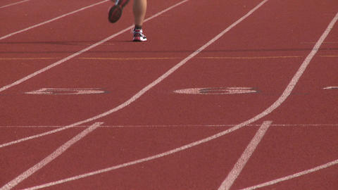 High School Track. (2 Of 5) stock footage