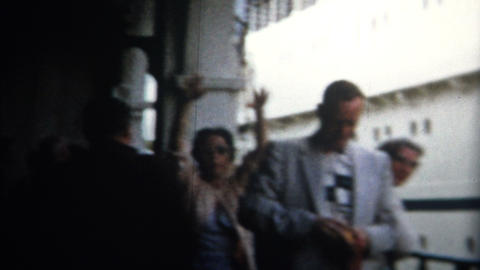 (8mm Vintage) 1955 Cruise Ship To Hawaii Leaves Footage
