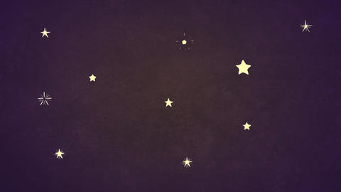 Cartoon Starry Sky (looped background) Animation