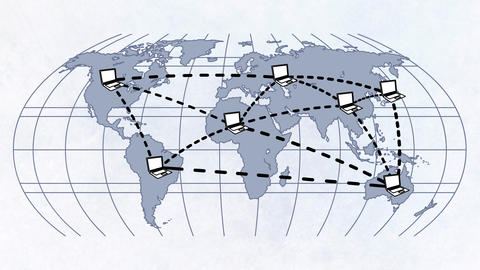 Map of International Cooperation Animation