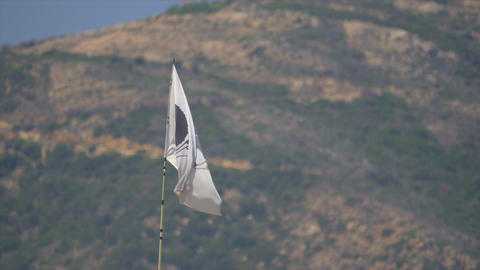 Corsica Flag, France stock footage