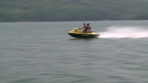 Two people on a Jet Ski Footage