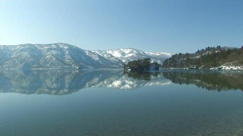 Winter Landscape in Towada Lake,Aomori,Japan Stock Video Footage
