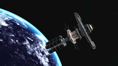 宇宙ステーション Stock Video Footage