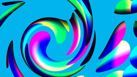 Spiral from color circles Stock Video Footage