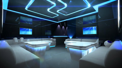 color led of Cyber Club Room Stock Video Footage