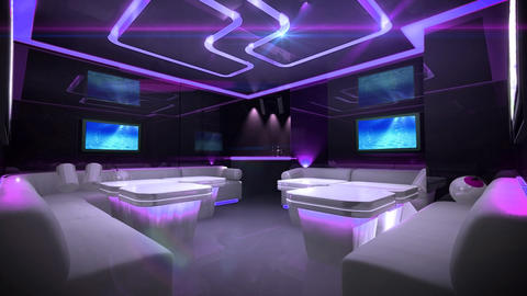 Cyber led light of Club Room Stock Video Footage
