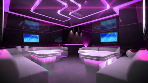 Cyber led light of Club Room Animation