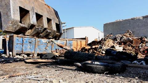 Large Scrap Metal Recycling Center Scrap Metal Recycling Yard Live Action