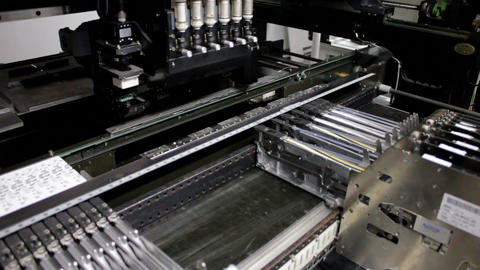 Surface Mount Technology (SMT) Machine Stock Video Footage