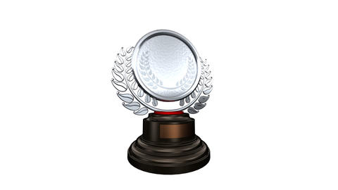 Medal Prize Trophy Bw HD Stock Video Footage