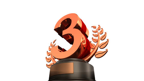 Number Trophy Prize Bbw HD Stock Video Footage