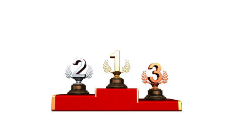 Podium Prize Trophy Aaw HD Stock Video Footage