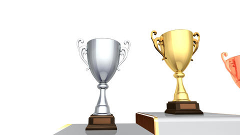 Podium Prize Trophy Cup Aa2w HD Animation