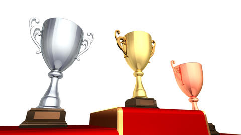 Podium Prize Trophy Cup Eaw HD Animation