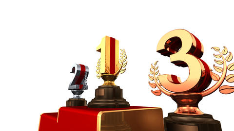 Podium Prize Trophy Eaw HD Stock Video Footage