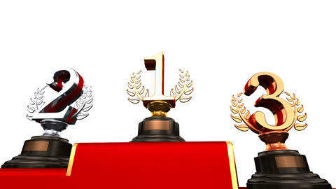 Podium Prize Trophy Ebw HD Animation