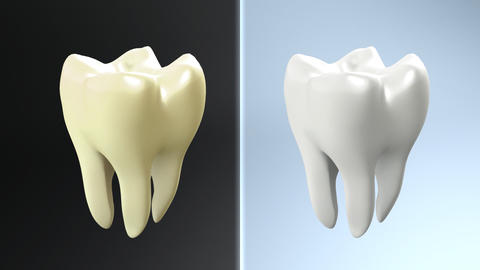 process of yellow tooth to white Animation