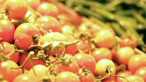 Vegetables fruits salad tomato tomatoes cucumber... Stock Video Footage