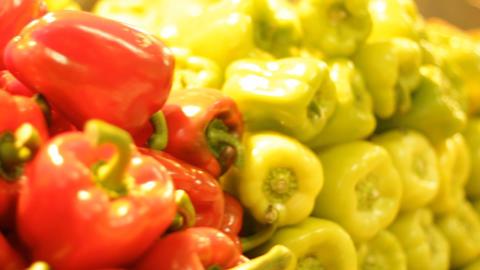 Vegetables fruits salad pepper healthy merchandise... Stock Video Footage