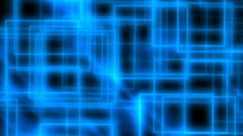 Abstract blue rectangles Stock Video Footage