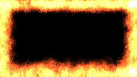 Fire frame Stock Video Footage
