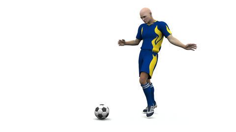 サッカー CG動画素材