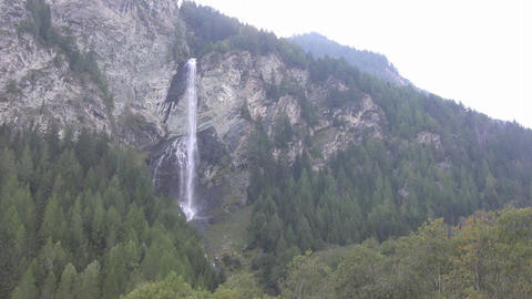 Waterfall in the Austrian Alps Stock Video Footage
