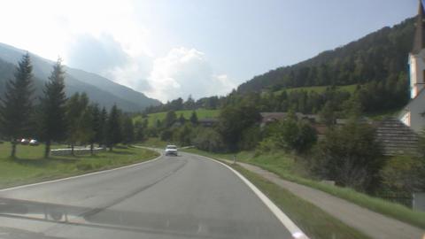 Alpine Road Stock Video Footage