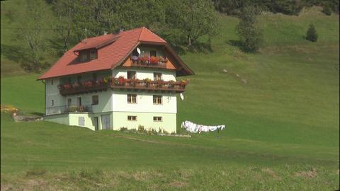 Alpine house Stock Video Footage
