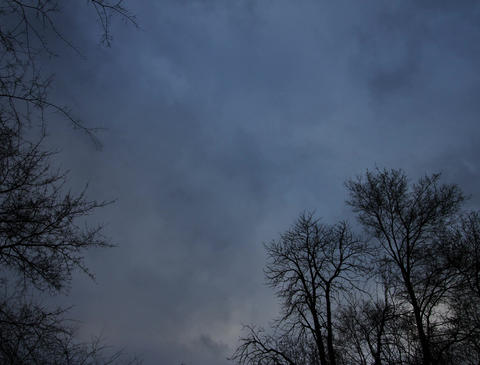 4K Horror Scene Clouds Timelapse Stock Video Footage