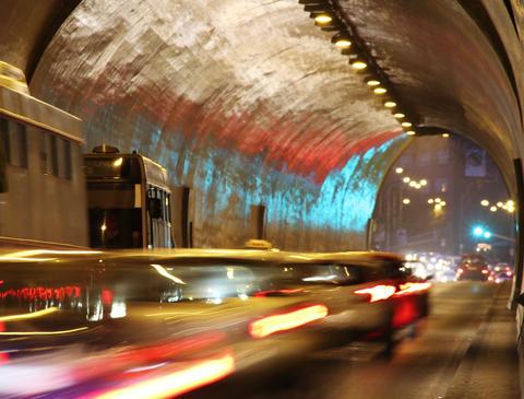 4K Tunnel Traffic Timelapse Stock Video Footage