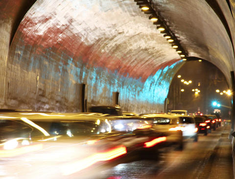 4K Tunnel Traffic Timelapse Footage