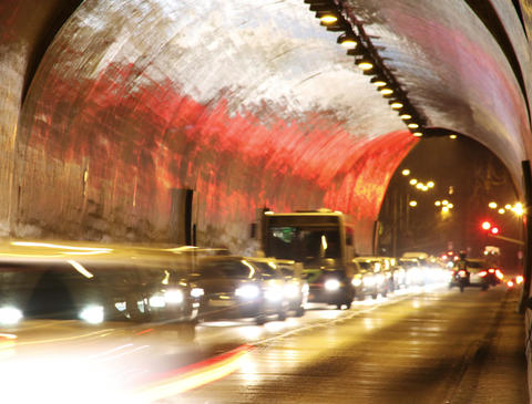 4K Tunnel Traffic Timelapse Stock Video Footage
