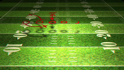 American Football Tactics 01 Stereoscopic 3D Anaglyph red... Stock Video Footage