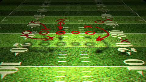 American Football Tactics 01 Stereoscopic 3D Anaglyph red blue Animation