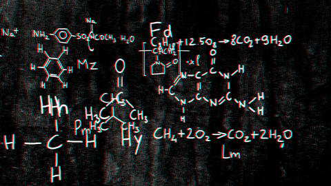 Chemistry v1 01 Stereoscopic 3D Anaglyph red blue Stock Video Footage