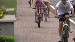 Riding bikes through town (6 of 7) Footage
