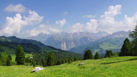 Alpine landscape in Dolomites Footage