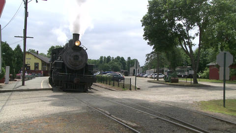 Passenger train leaving the station (2 of 3) Footage