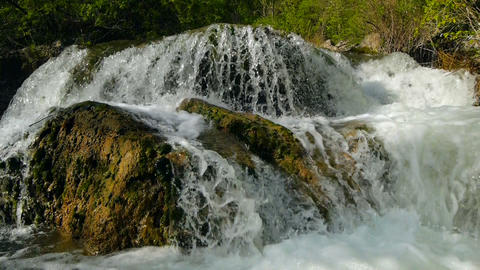 The Mountain River In The Spring stock footage
